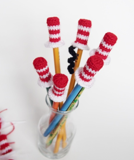 Cat In The Hat Pencil Toppers Free Crochet Pattern Go Ahead And